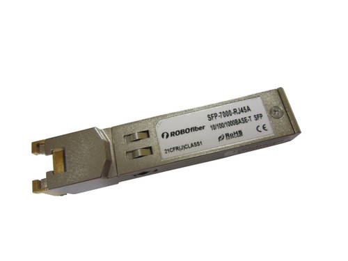 10/100/1000Base-TX RJ45 copper Gigabit SFP (SFP-7000-RJ45A)