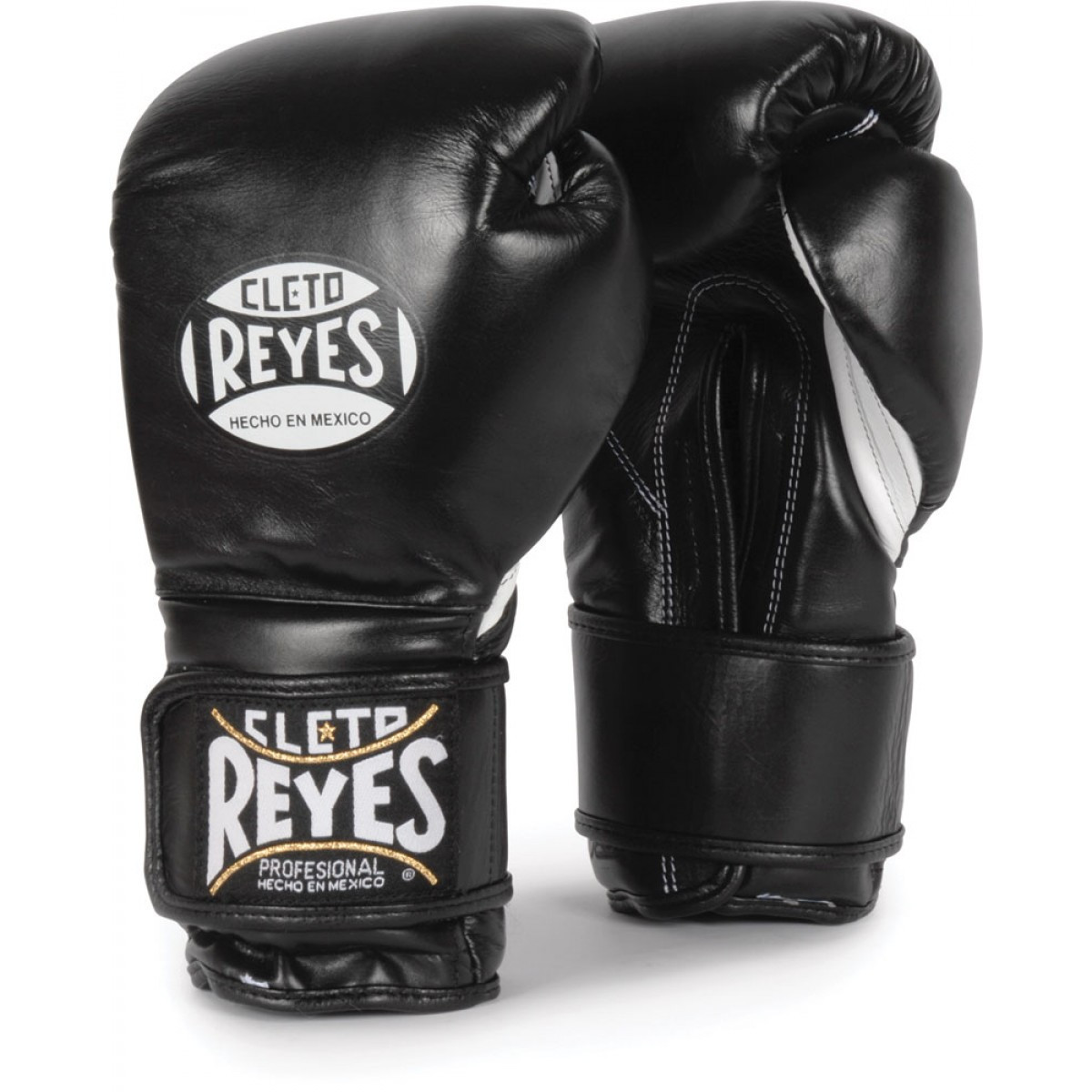 Gym Gloves And Loops: Cleto Reyes Hook & Loop Boxing Gloves Black Color