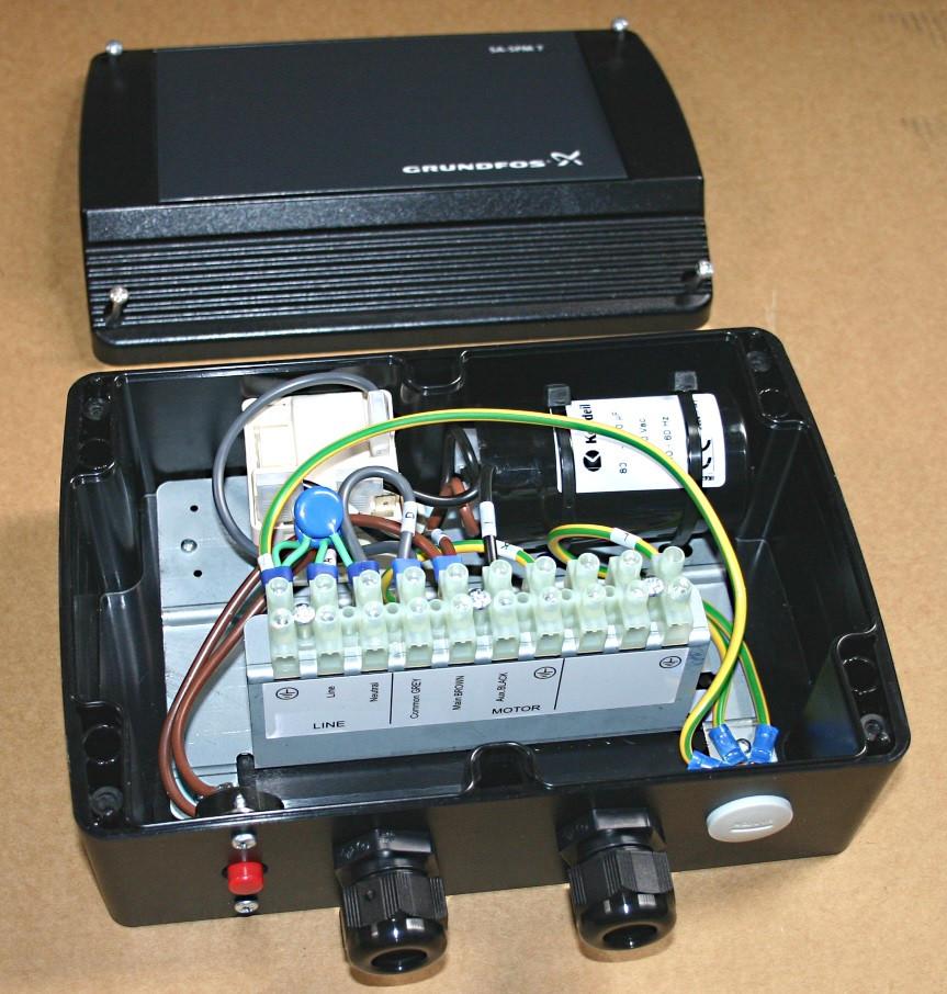 sa spm2 starter for 0 75 kw single phase 3 wire earth grundfos rh borepumps com au