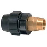 63mm Metric Poly Pipe x 50mm Male Brass Threaded Adaptor