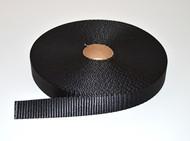 "1"" Black Polyester Webbing"