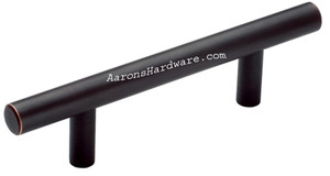Oil Rubbed Bronze Bar Pulls in many of the common hole spacing lengths.