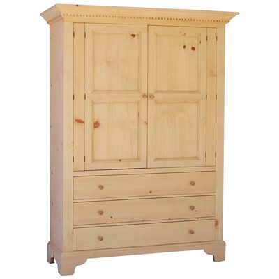 English Armoire shown in English Pine