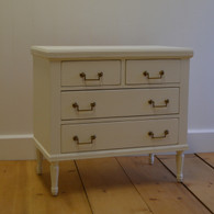 Madeline Bedside Table - french white