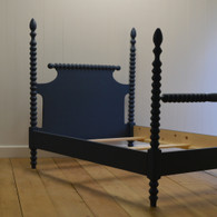 English Farmhouse Spindle Bed in Black Walnut
