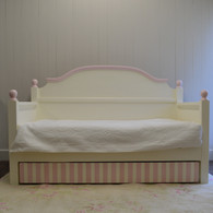 French Farm Daybed with Trundle- french white with pink