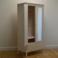 Emma's Mirrored Armoire - whitewash