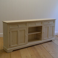 London Media Cabinet - French White