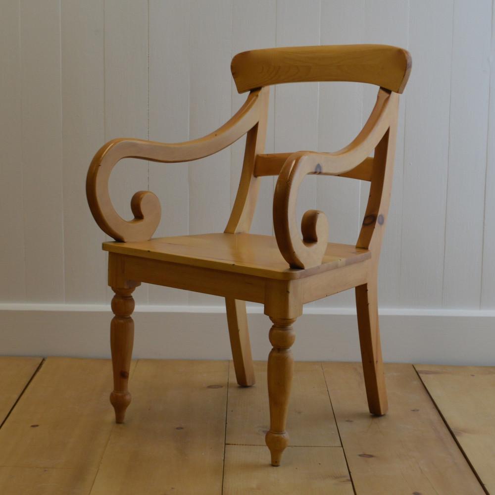Farmhouse Chair With Arms English Farmhouse Furniture