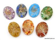 Set of 7 Chakra Oval Organite Worry Stones