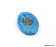 Halo Turquoise Organite Oval Worry Stone
