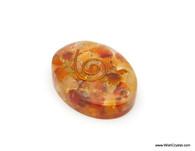 Carnelian Aventurine Organite Oval Worry Stone