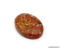 Red Jasper Aventurine Organite Oval Worry Stone