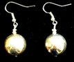 #A20 Large Round Bright Silver Earring $25. Available in wire, post or clip on