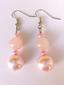Pink Pearl and Rose Quartz $25.