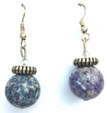 #A69 To match, Denim Blue Fossil Stone Earrings $25. Available in post, wire or clip on