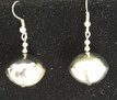 #A1 Matching  Bright Silver Earrings. Available in wire, post or clip on $25.