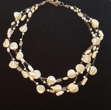 #AN78 Delicate and Elegant Multiple Strands of Hand-Crocheted French Pearls  Price $145. 18 inches long but may be special ordered in another size for an added charge