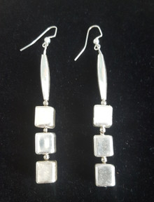 Silver Earrings Long and Dramatic