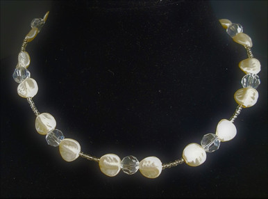 "#AN71 DELICATE FRENCH CRYSTAL PEARLS AND FACETED CRYSTAL  COST $65. LENGTH 16"" OR 18"" LONG. YOU MAY CUSTOM ORDER THIS IN ANOTHER SIZE FOR A SLIGHT EXTRA CHARGE."