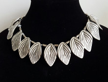 """#BN 11 On of my favorite Necklaces:  Stunning  Silver Leaves-- a knockout statement . Price:  $155.  Length 18"""" Available in custom size to fit your needs for a slight extra charge"""