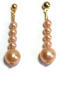Coral Colored Drop Earrings