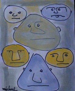 RAW - ART BRUT 6 FACES - by Michael