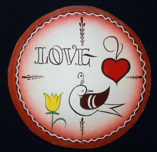 LOVE BIRD PA DUTCH style HEX SIGN by Geo G Borum