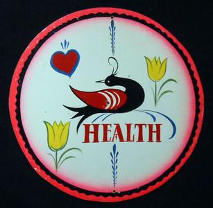 HEALTH Pa Dutch Style HEX SIGN by Geo G Borum
