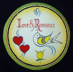 Love & Romance Bird - Pa Dutch Style HEX SIGN by Geo G Borum