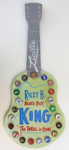 B B KING (Blues Boy) Bottle Cap Guitar by George Borum