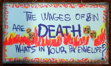 WAGES of SIN are DEATH by Jaybird - with skulls