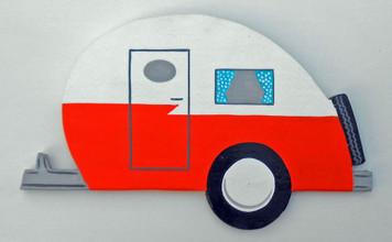 Tear-drop RETRO 50's style Camping Trailer by George Borum