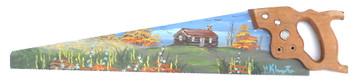 CARPENTER SAW - Autumn CABIN - Oil Paint