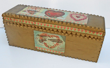 ANTIQUE VALENTINE CIGAR BOX by Pops Casey