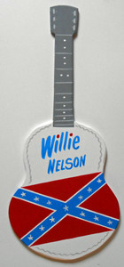 WILLIE NELSON - REBEL FLAG GUITAR by George Borum