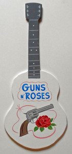GUNS AND ROSES GUITAR WALL HANGING by George Borum