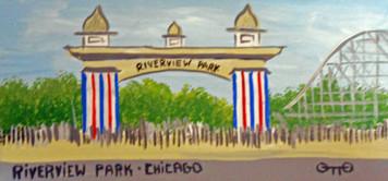ENTRANCE to RIVERVIEW AMUSEMENT PARK by Otto