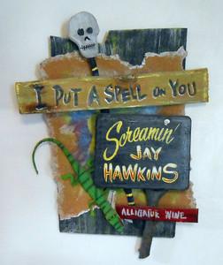 Halloween 3-D Plaque SCREAMING JAY HAWKINS by George Borum