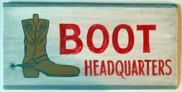 COWBOY BOOT HEADQUARTERS by George Borum