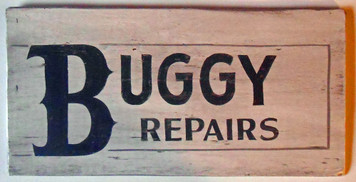AMISH BUGGY REPAIRS SIGN by George Borum