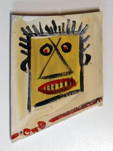 MAN'S FACE on SCRAP WOOD by Otto Schneider