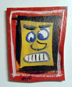 MAN'S FACE on Scrapwood by Otto Schneider