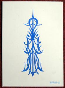 "PIN STRIPING - 7"" x 10"" by George Borum"