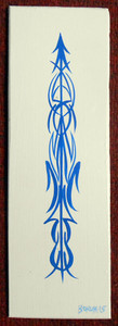 "PIN STRIPING - C - 4"" x 12"" - by George Borum"