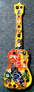 FUNKY - WOODEN CUT-OUT GUITAR by George Borum