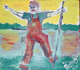 "JOHNNY APPLESEED PAINTING by ""Heavy"""