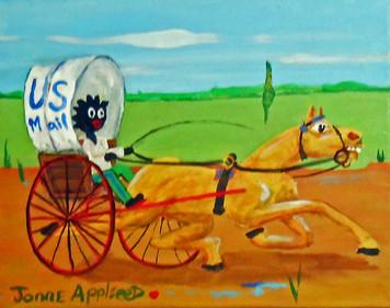 """THE MAIL WAGEN"" painting by Jonne Applseed"
