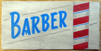 BARBER POLE SIGN