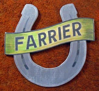FARRIER - BLACKSMITH - HORSESHOE SIGN by George Borum